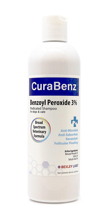 #1 Benzoyl Peroxide Shampoo, Effective for Mange, Demodex, Dandruff, Seborrhea, Pyoderma, Mites & Acne, Penetrates Deep Removing Excess Oil & Debris, Broad Spectrum Formula, Satisfaction Guarantee Bexley Labs