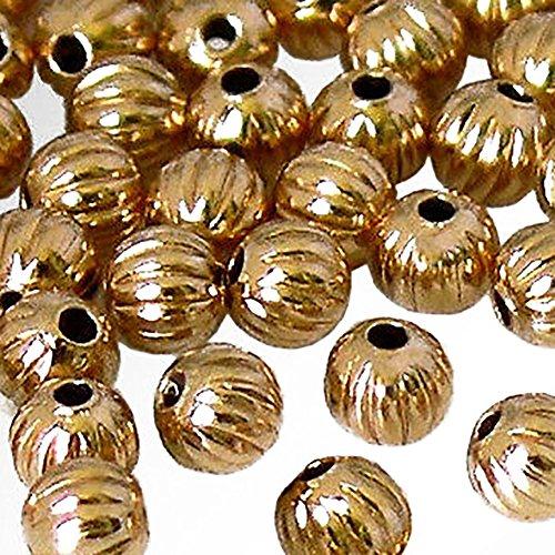 (Luxury & Custom {4mm w/ 1mm Hole} of 100 Individual Loose Tiny Round