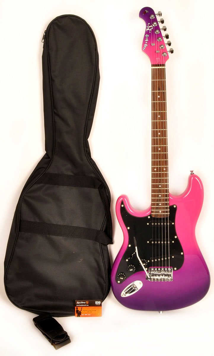 SX GE Rose 1K PPB Purle Left Handed Electric Guitar 7/8 Size with Bag and Strap and Instructional DVD