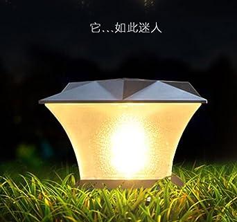 Lámpara LED solar lámpara solar jardín lámpara Ahorra energía solar Bombilla Blanco Blanco Cálido Resistente Al Agua Exterior Lámpara IP65 para Exterior Jardín empotrables para suelo: Amazon.es: Iluminación
