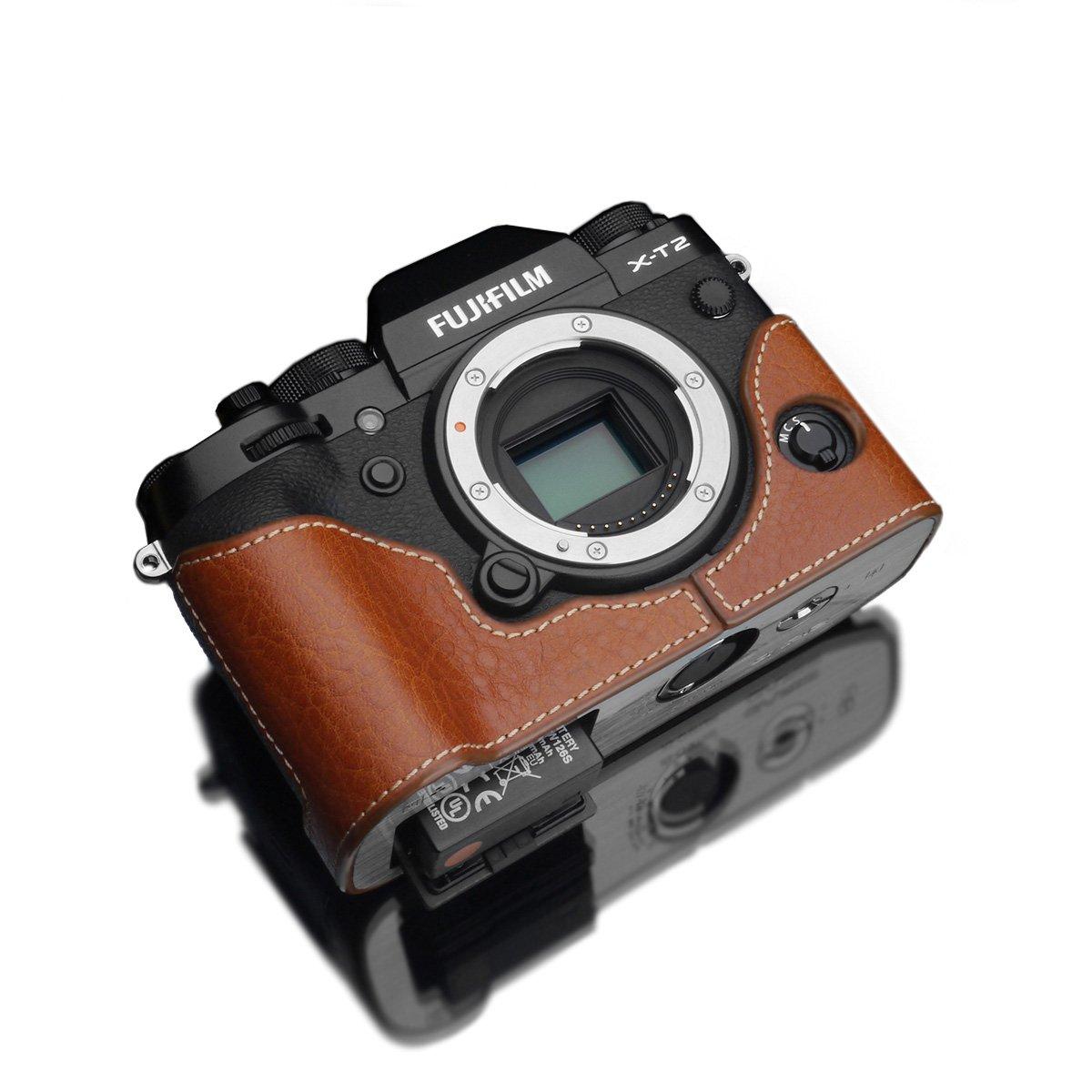 GARIZ FUJIFILM X-T2用 本革カメラケース XS-CHXT2CM  キャメル B01LZQ6OHQ
