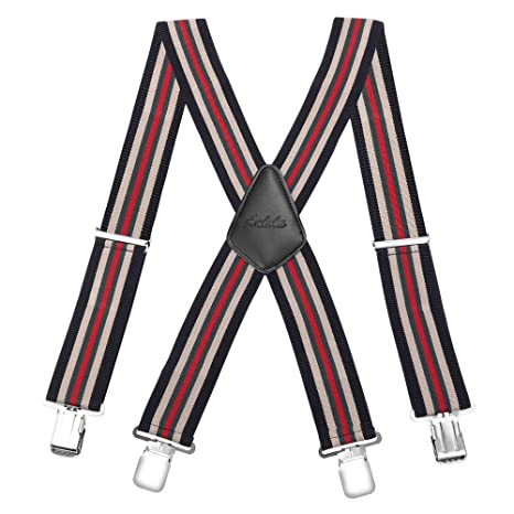 Mens Made in England One Inch Stripe 1 Multicolored Braces
