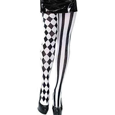 Bristol Novelty BA998 Harlequin Tight, Black/White, One Size: Toys & Games
