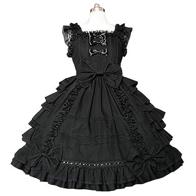 c18814869 Amazon.com  Nuoqi Girls Sweet Lolita Dress Princess Lace Court ...