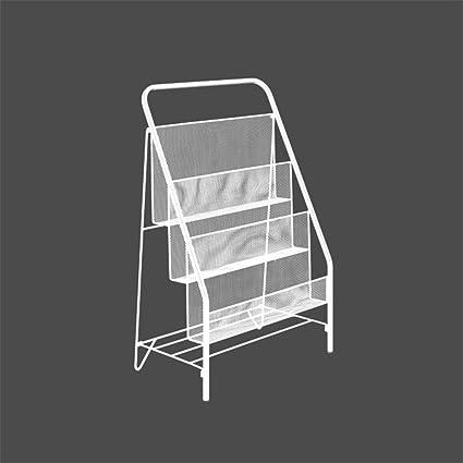 Foldable Magazine Rack Floor Magazine Newspaper Holders Metal Magazine Rack For Home Bathroom Office File Organizer Storage Basket A