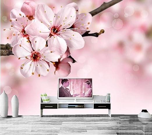 Sakura Flower Wallpaper Enlosables Sala De Estar Sofá Tv