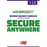 Webroot SecureAnywhere Internet Security Complete Virus Protection Software 2021 for 5 Devices - Includes Identity Protection