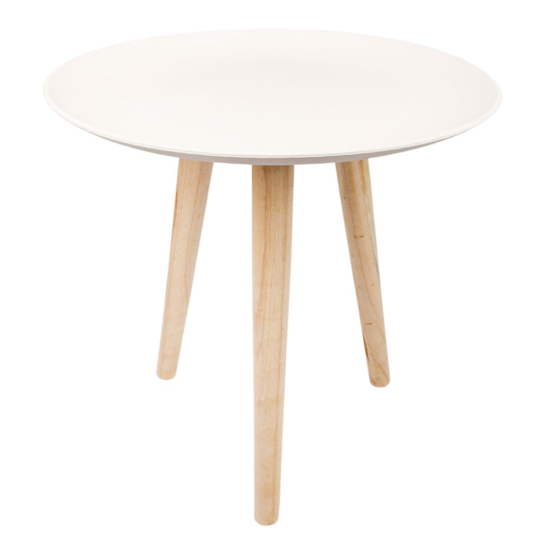 Künstlerisch Couchtisch Holz Rund Dekoration Von E Vitamin Beistelltisch Weiß Tisch Sofatisch Drei