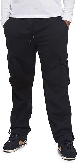 Victorious Mens Solid Fleece Cargo Shorts