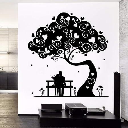 jiuyaomai Tatuajes de Pared Magic Love Tree Stickers Decoración ...
