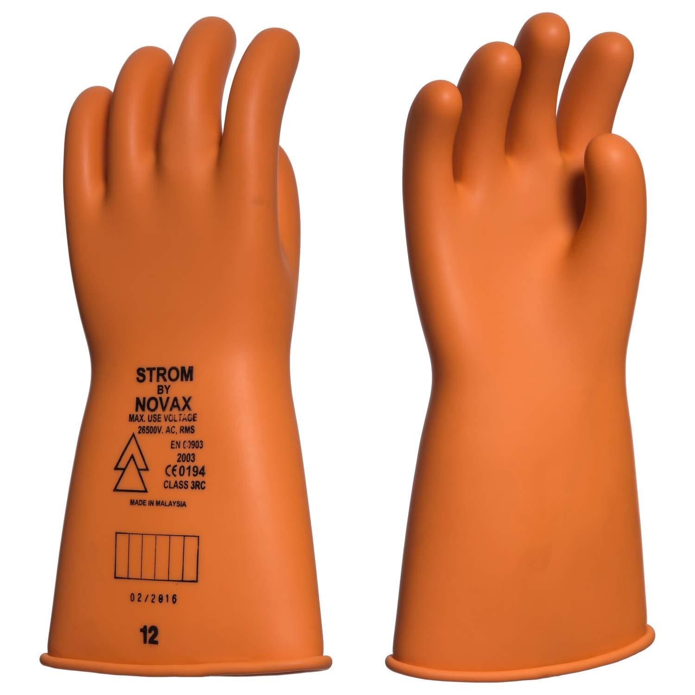 EIS - Guantes lá tex aislantes para Trabajos en tensió n. Clase 3-26500 voltios - Naranja, 9 STROM BY NOVAX