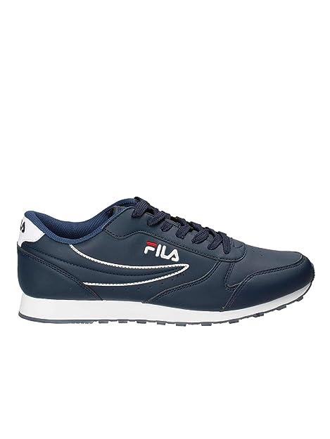 327dade35c0a Fila Scarpe Uomo Orbit Low in Pelle Blue 1010263-29Y  Amazon.co.uk  Shoes    Bags
