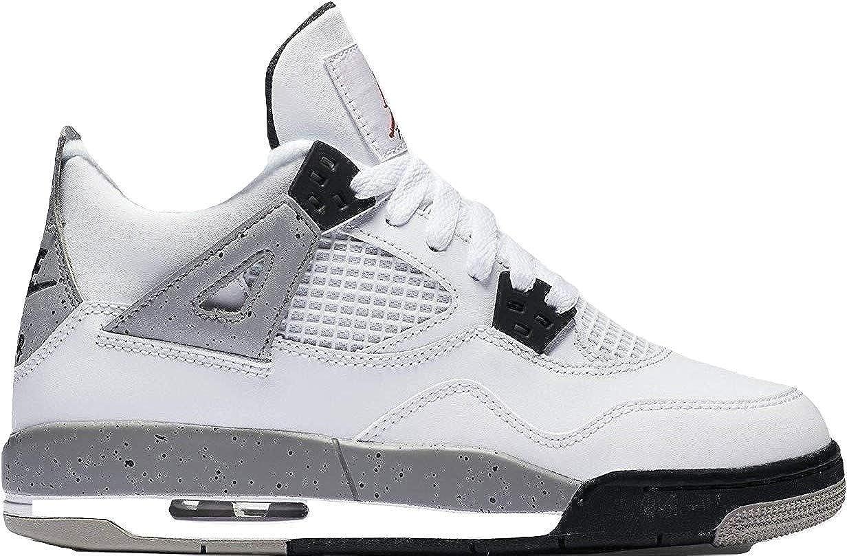 timeless design 42662 e3081 nike air jordan 4 retro OG BG hi top trainers 836016 sneakers shoes (6.5Y ,  white fire red black tech grey 192)