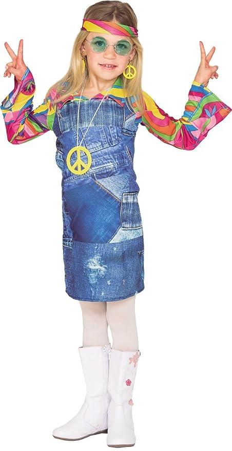Fyasa 706464-t02 Hippie niño disfraz de vaquera, tamaño mediano ...