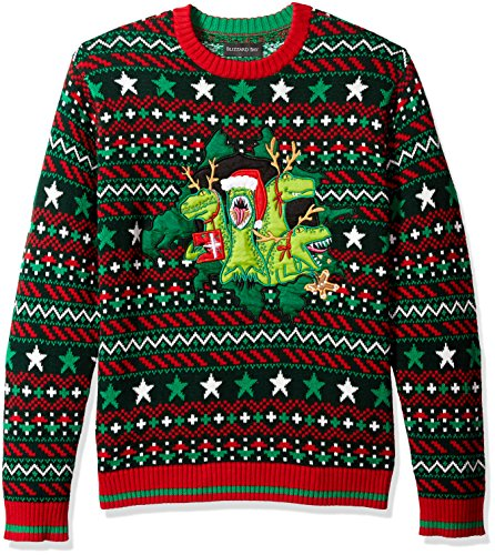 Blizzard Bay Men's X-mas Raptors Ugly Christmas Sweater, XX-Large -