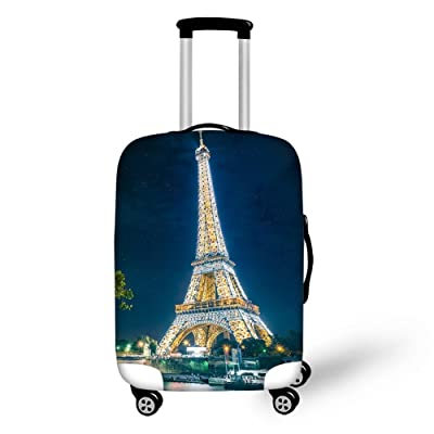 Travel Luggage Covers fit most 18-32 inch,Printing Suitcase Protector Spandex and polyester Protectors (Color : Picture4, Size : S-150g)