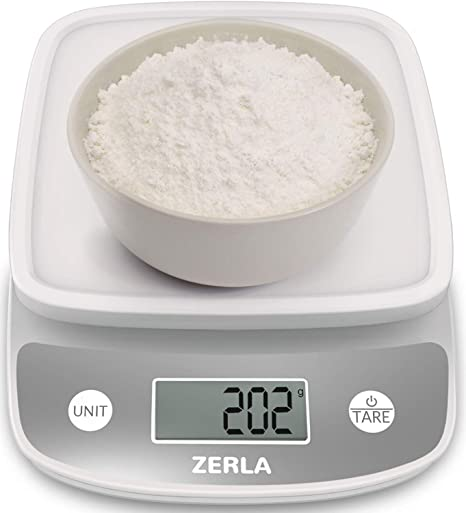 Digital Kitchen Scale By Zerla Multifunction Food Scale With Range From 0 04oz To 11lbs White