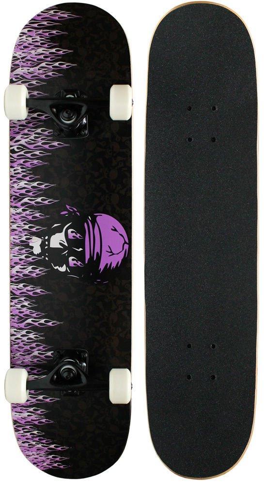 CompleteパープルFlameスケートボードパーツでフリーSH B06XJ625PN