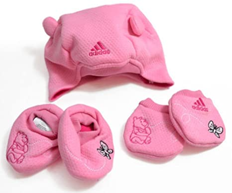 Disney Winnie The Pooh, Adidas niña Set de regalo con sombrero, botines y mitones: Amazon.es: Zapatos y complementos