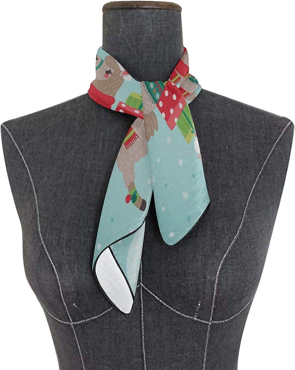 Soft Polyester Silk Summer Scarves For Women Fashion Print Cartoon Christmas Animal Dog Scarf For Kids Girls Head Scarf Men Man Head Scarf Multiple Ways Of Wearing Daily Decor