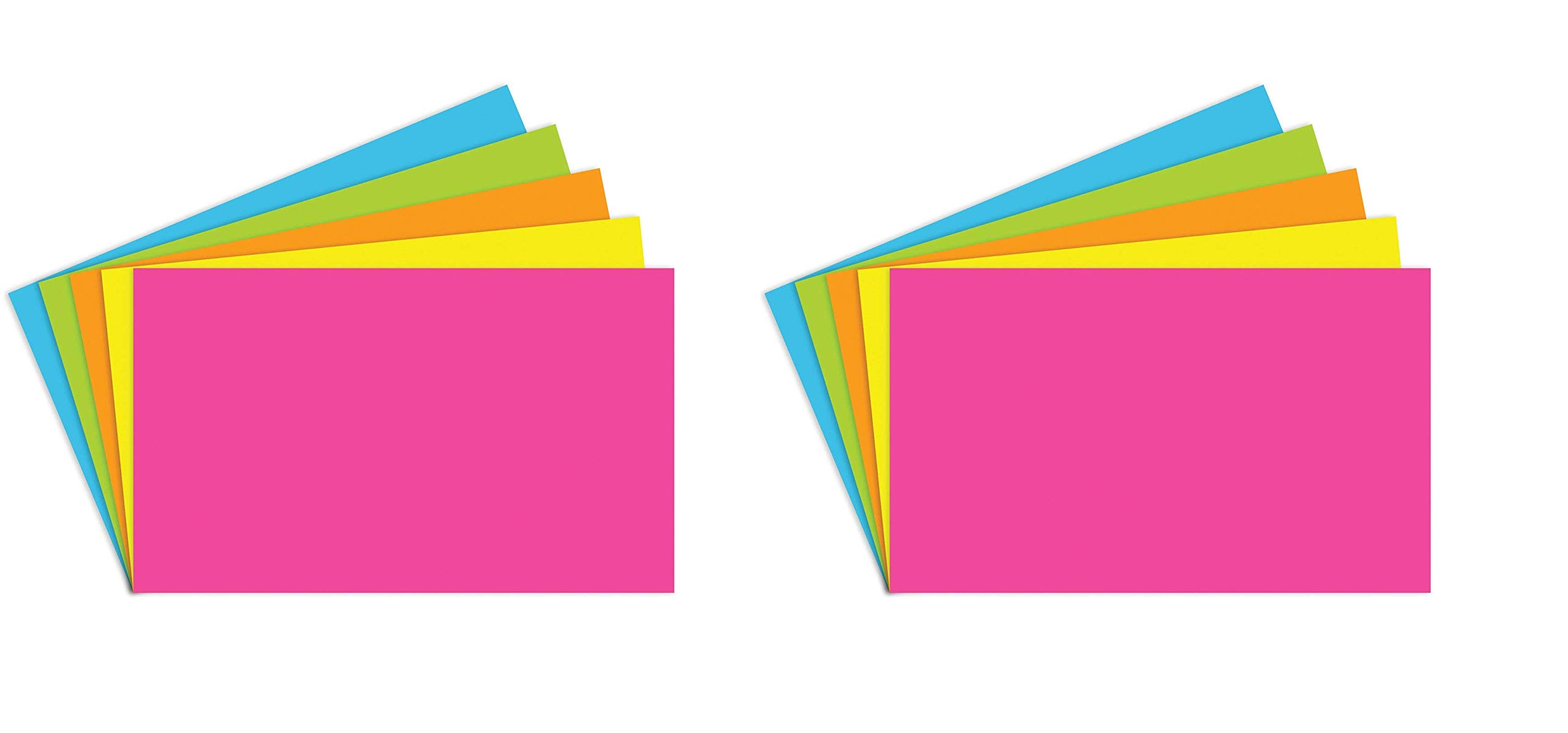 Top Notch Teacher Products TOP360 Brite Assorted Index Cards Blank, 1'' Height, 3'' Wide, 5'' Length (100 Cards per Package) (Twо Pаck) by Top Notch Teacher Products
