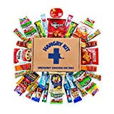 Sweet & Salty Snack Sampler - Care Package - Gift Pack - Variety of 40 Chips, Candies & Cookies Included - 100% by Hangry Kits