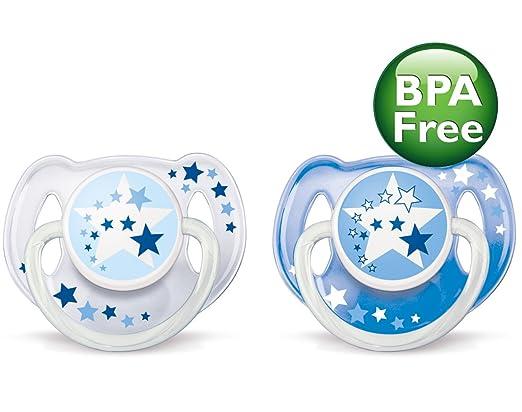 Amazon.com: Tiempo Philips AVENT BPA noche gratis Chupete, 6 ...