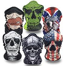 Skull Mask 6 Set Magic Multifunctional Face Masks Tube Bandana For Riding Hiking Outdoor Sports