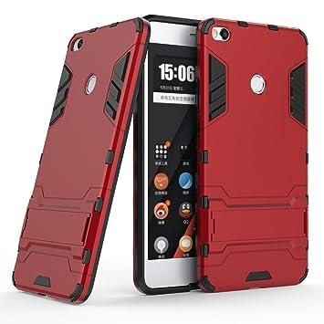 XiaoMi Mi Max 2 Funda, SMTR Ultra Silm Híbrida Rugged Armor Case Choque Absorción Protección Dual Layer Bumper Carcasa con pata de Cabra para XiaoMi ...