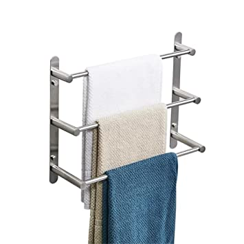 Yutu Ty500 Stainless Steel Towel Rack 3 Tiers Square Towel Bars Wall