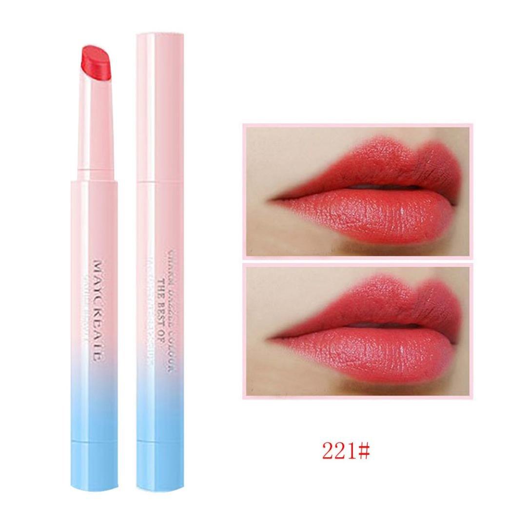 Jinjin Gloss Lipstick Waterproof Sexy Hydrating Long Lasting Lip,0.13 Ounce (B)