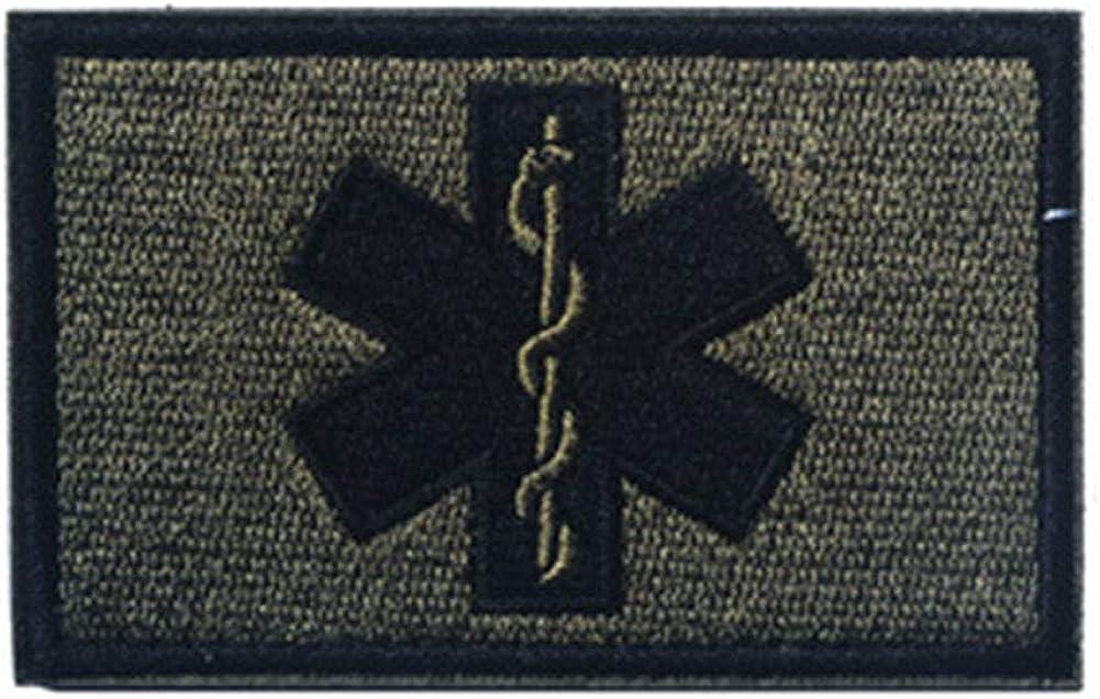 Técnico Médico De Bordado Parche De Emergencia Parches Bordados Hook & Loop Distintivos
