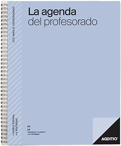 Additio P212 - Agenda para el Profesorado, color gris