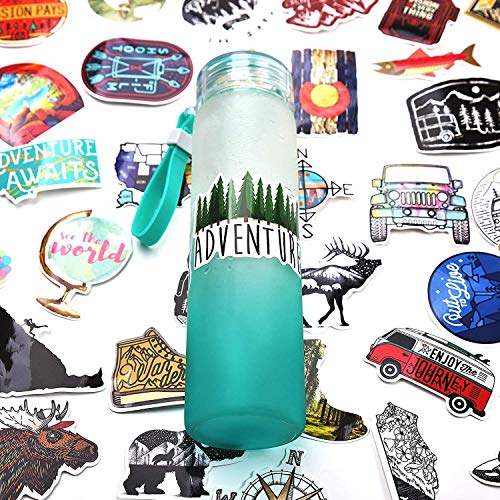 Outdoor Stickers 50 Pcs for Water Bottles,Cute,Waterproof,Aesthetic Sticker for Teens,Girls,Perfect for Laptop,Flask,Phone,Skateboard,Extra Durable Vinyl