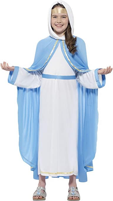 Niña Infantil Disfraz Virgen María para el belén Juego, Vestido ...