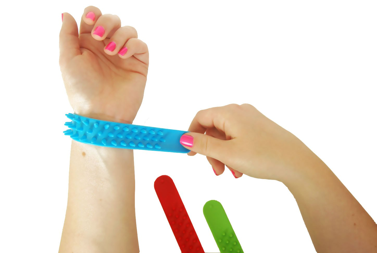 Spiky Slap Bracelets / Slap Bands (3 Pack) - Great Sensory Toys / Fidget Toys - BPA/Phthalate/Latex-Free by Impresa Products (Image #5)
