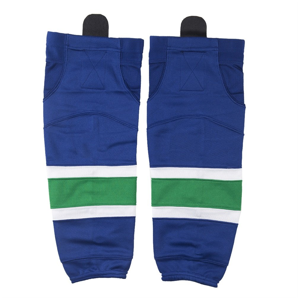COLDINDOOR Ice Hockey Socks Youth, Boy Child Hockey Practice Dry Fit Mesh Hockey Socks Kids XS Blue