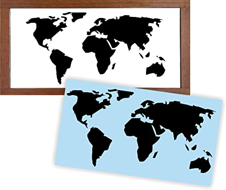 Amazon.com: World Map Stencil for Painting Signs, Reusable ...