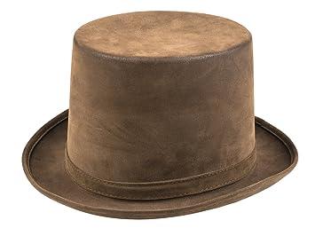 shoperama Marrón Cilindro con Acabado Antiguo Talla 58 - 60 Sombrero Vintage Steam Punk Hombre, Mujer: Amazon.es: Juguetes y juegos