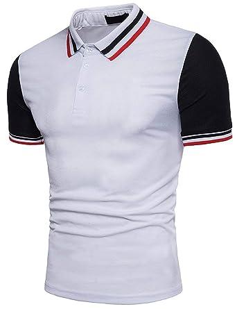 Polo De Los Hombres Camiseta De Polo De Manga Ropa Corta Solapa ...
