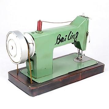GFEI Tin nostalgia antiguas maquinas de coser decorativa modelo PROPS / retro artesanias de metal adornos de chino moderno (35 * 16 * 21cm): Amazon.es: ...