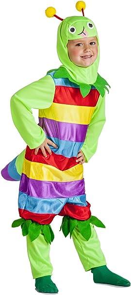 Disfraz de Gusano Multicolor Infantil (3-4 años): Amazon.es ...