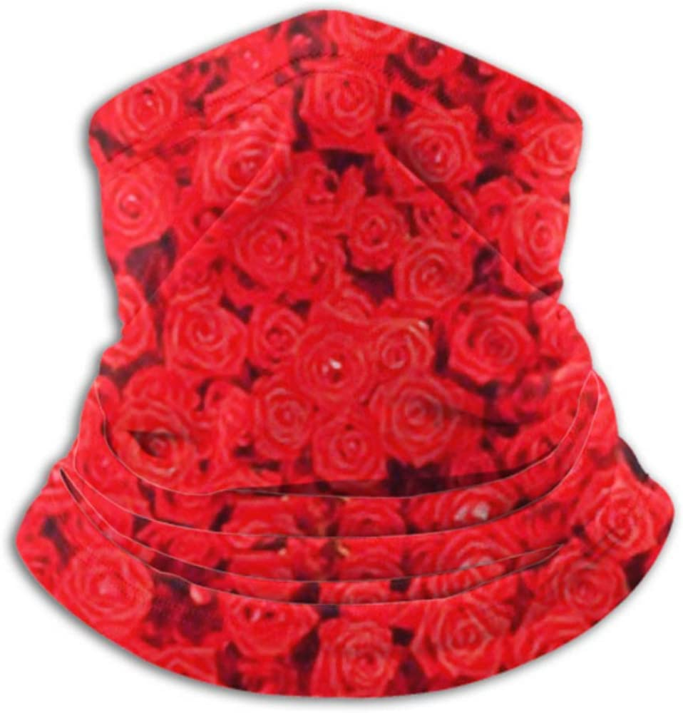 Fleece Neck Warmer ,multifunctional Red Rose Background Scarf,a Full Face Mask Or Hat Balacla Neck Cap ,ski Mask Half Mask,face Mask Neck Gaiter