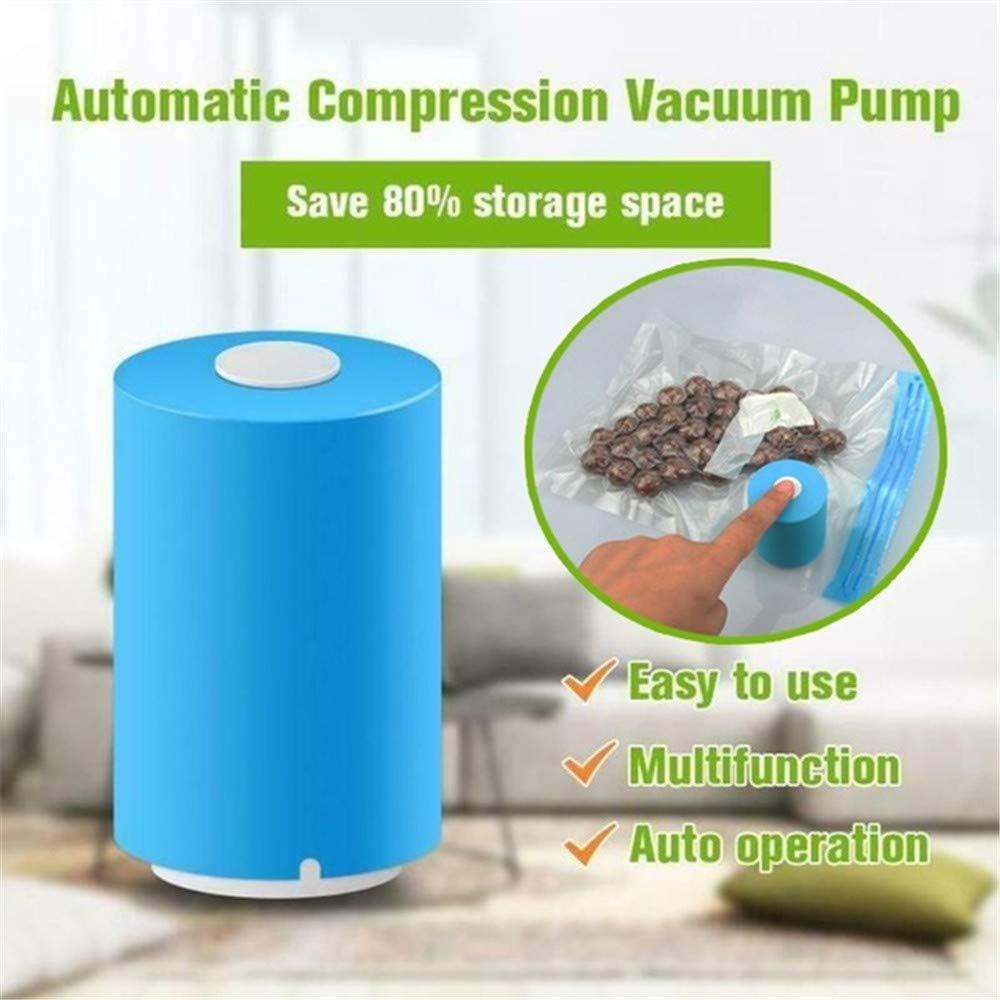 KINJOHI Mini Compresseur sous Vide Automatique Sacs /à Compresse Maison Compress/é Outil D/économie Despace