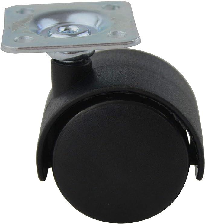 Set de 4ms beschl/äge ruedas rueda de Suelo Duro Pl/ástico /Ø 40mm con Tornillo-en