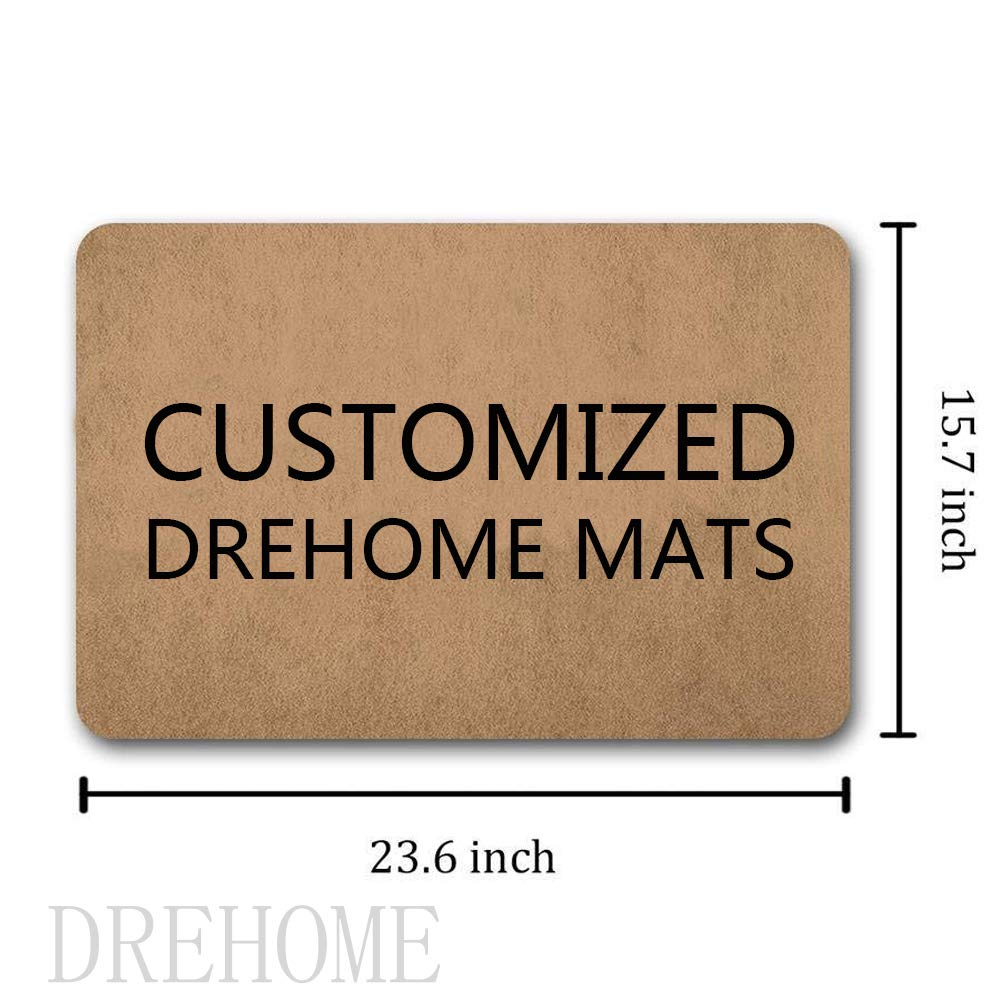 Drehome Home Where The Ho and Me Come Together Entrance Mat Floor Mat Welcome Door Mat Funny Doormats Humor Unique Doormat Rubber Non-Slip