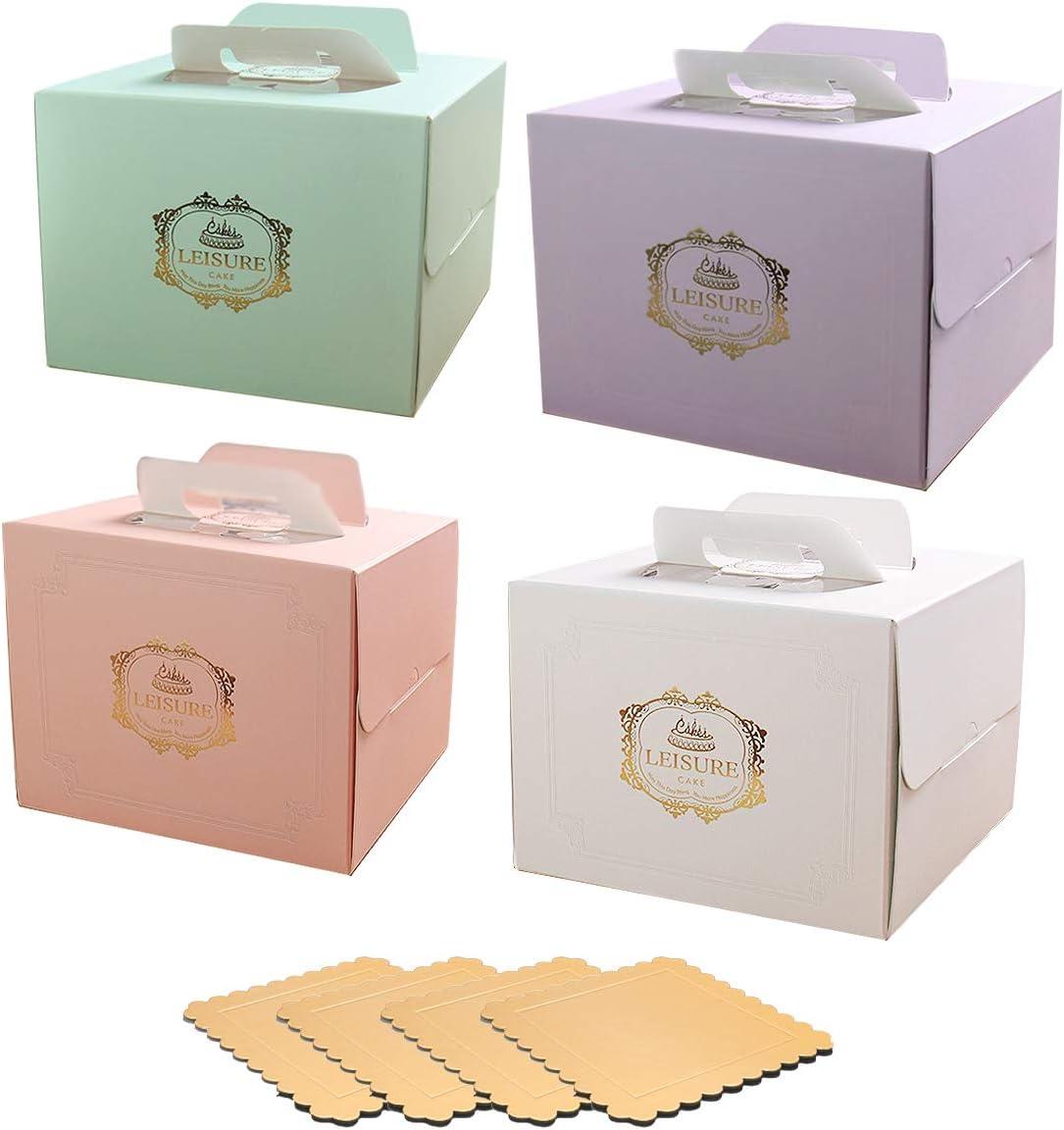 Juego de 4 Cajas para Tartas de Colores Diferentes de 30 cm con 4 ...