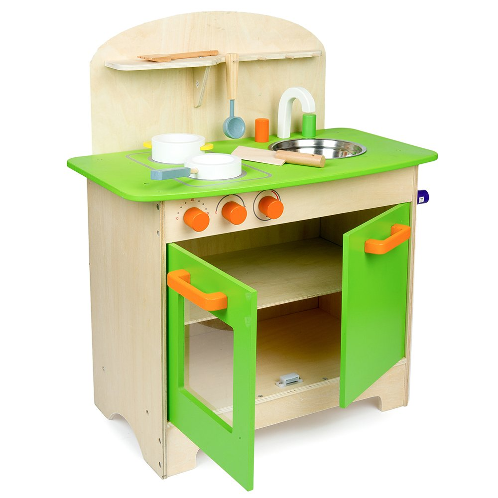 Kitchen Set wooden kitchen set photos : Mamakiddies Wooden Kitchen Children's Cooking Role Play Set ...
