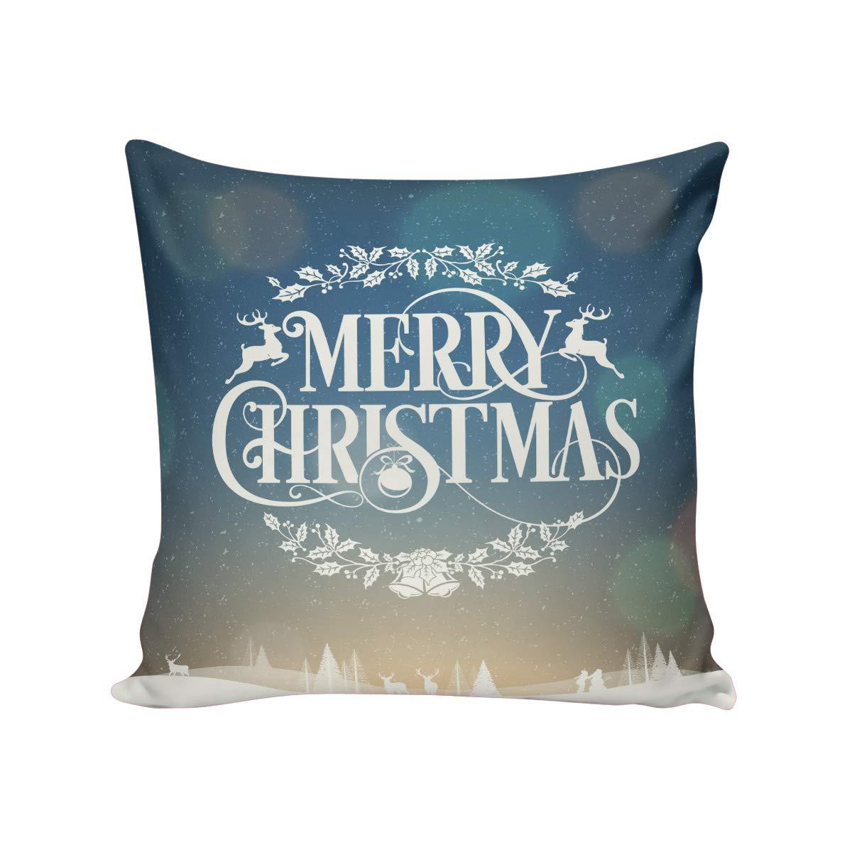 Savannan 装飾用クッションカバー ホームインテリア メリークリスマステーマ 26