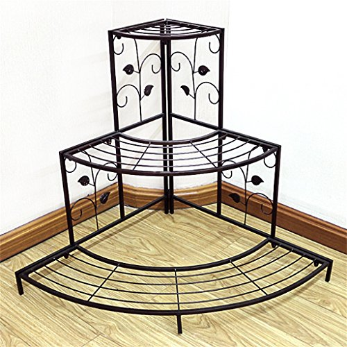 AIDELAI flower rack Pastoral European Style Creative Metal Flower Racks Indoor And Outdoor Living Room Balcony Decoration Multiple Layers Flower Pot Rack Patio Garden Pergolas ( Color : #1 ) by AIDELAI